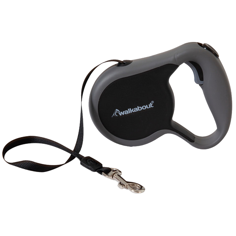 Walkabout Small Retractable Leash Black