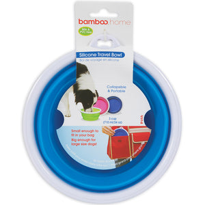 Petmate Silicone Travel Bowl 3-Cup Assorted Colors