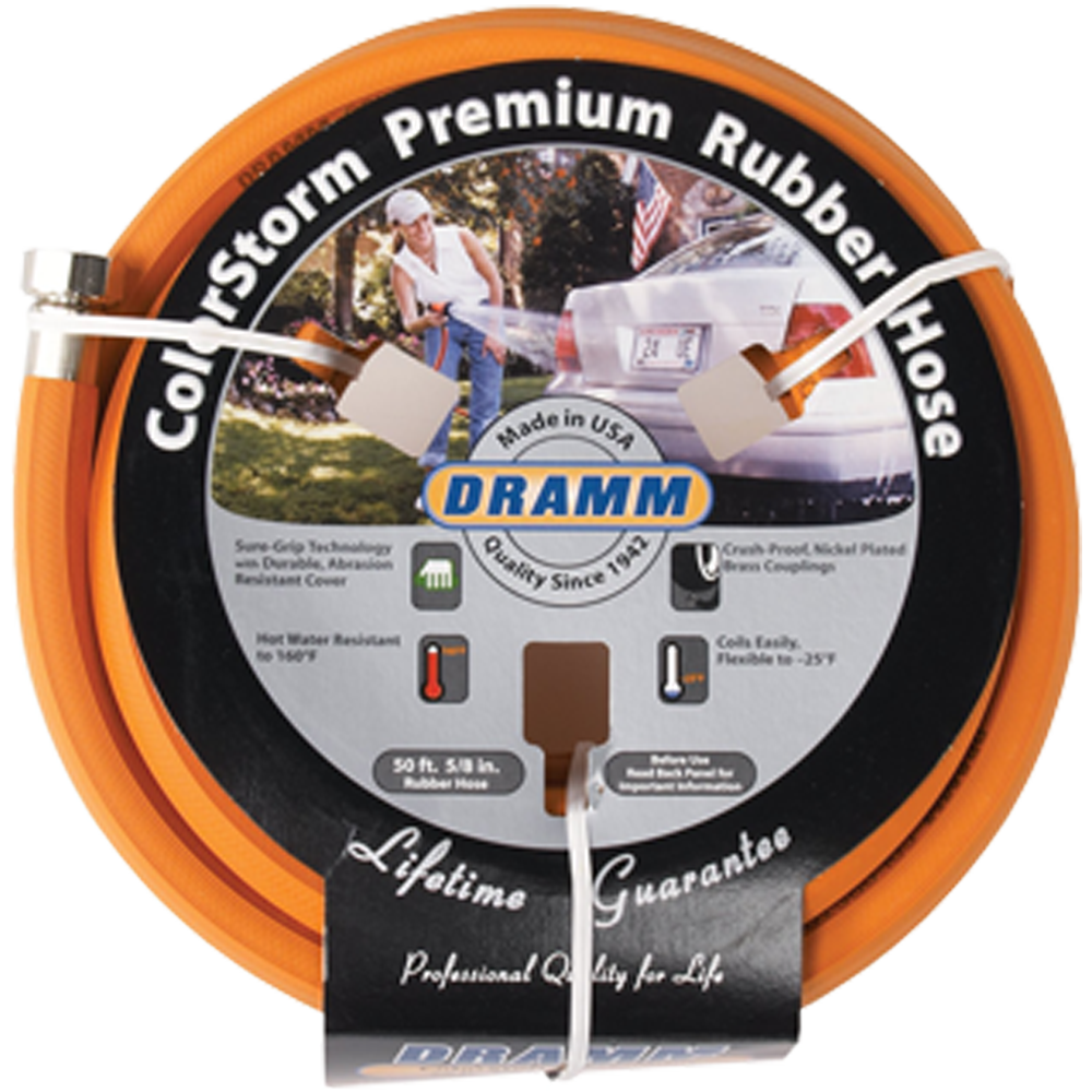 Dramm ColorStorm Premium Rubber Hose Orange 50 Foot