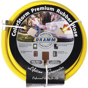 Dramm ColorStorm Premium Rubber Hose Yellow 50 Foot