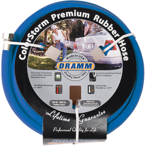 Dramm ColorStorm Premium Rubber Hose Blue 50 Foot