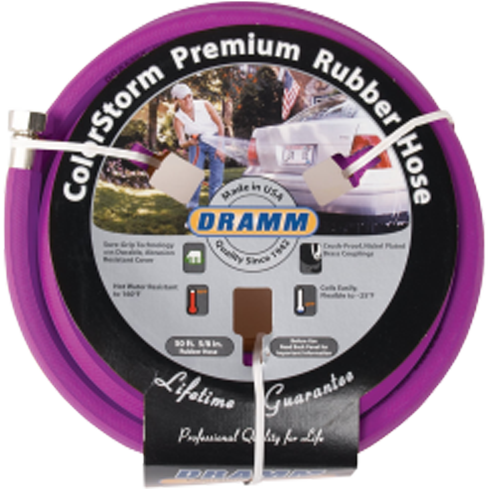 Dramm ColorStorm Premium Rubber Hose Berry 50 Foot
