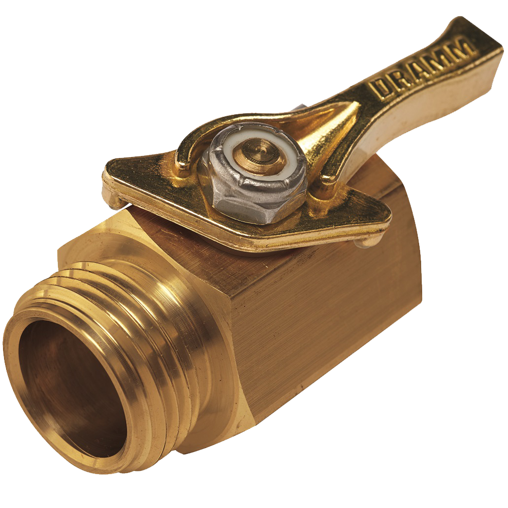 Dramm Heavy-Duty Brass Shut-Off Valve