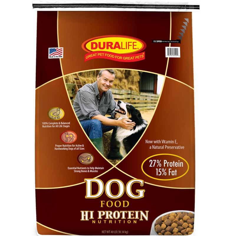 Duralife Hi Protein Adult Dry Dog Food 40-Lbs