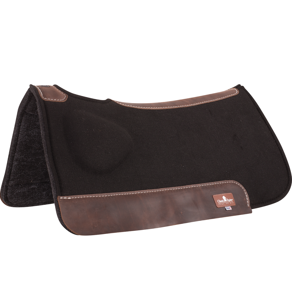 Classic Equine 31x32 BioFit Correction Saddle Pad Black