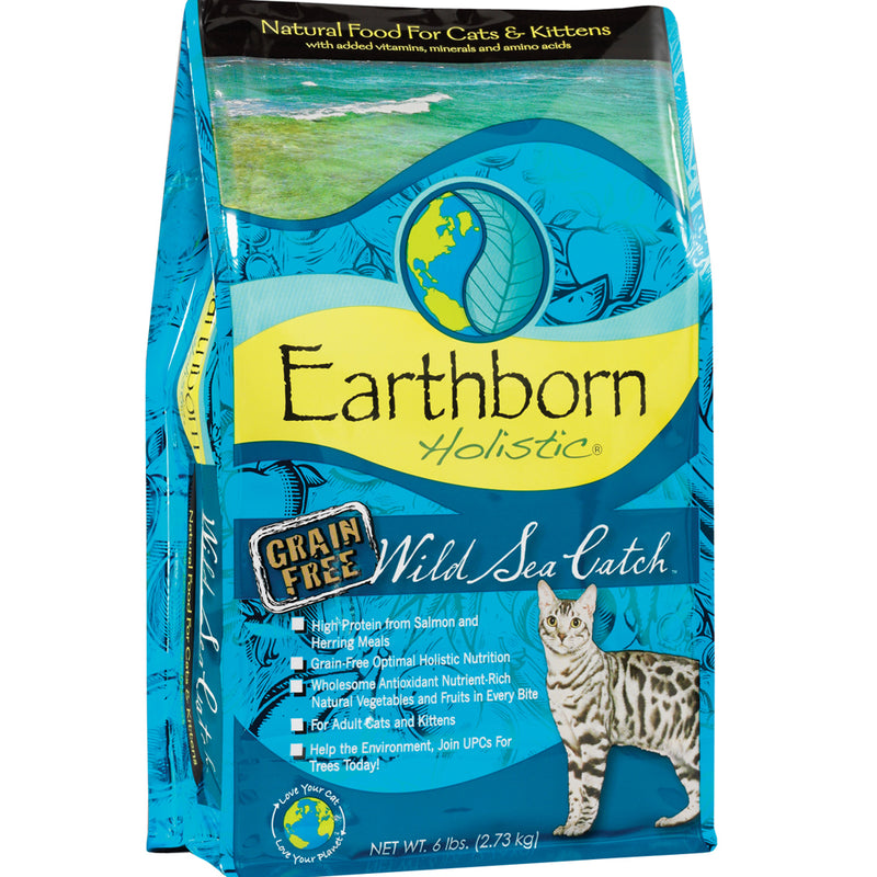 Earthborn Holistic Wild Sea Catch Grain-Free Dry Kitten And Cat Food 5-lb