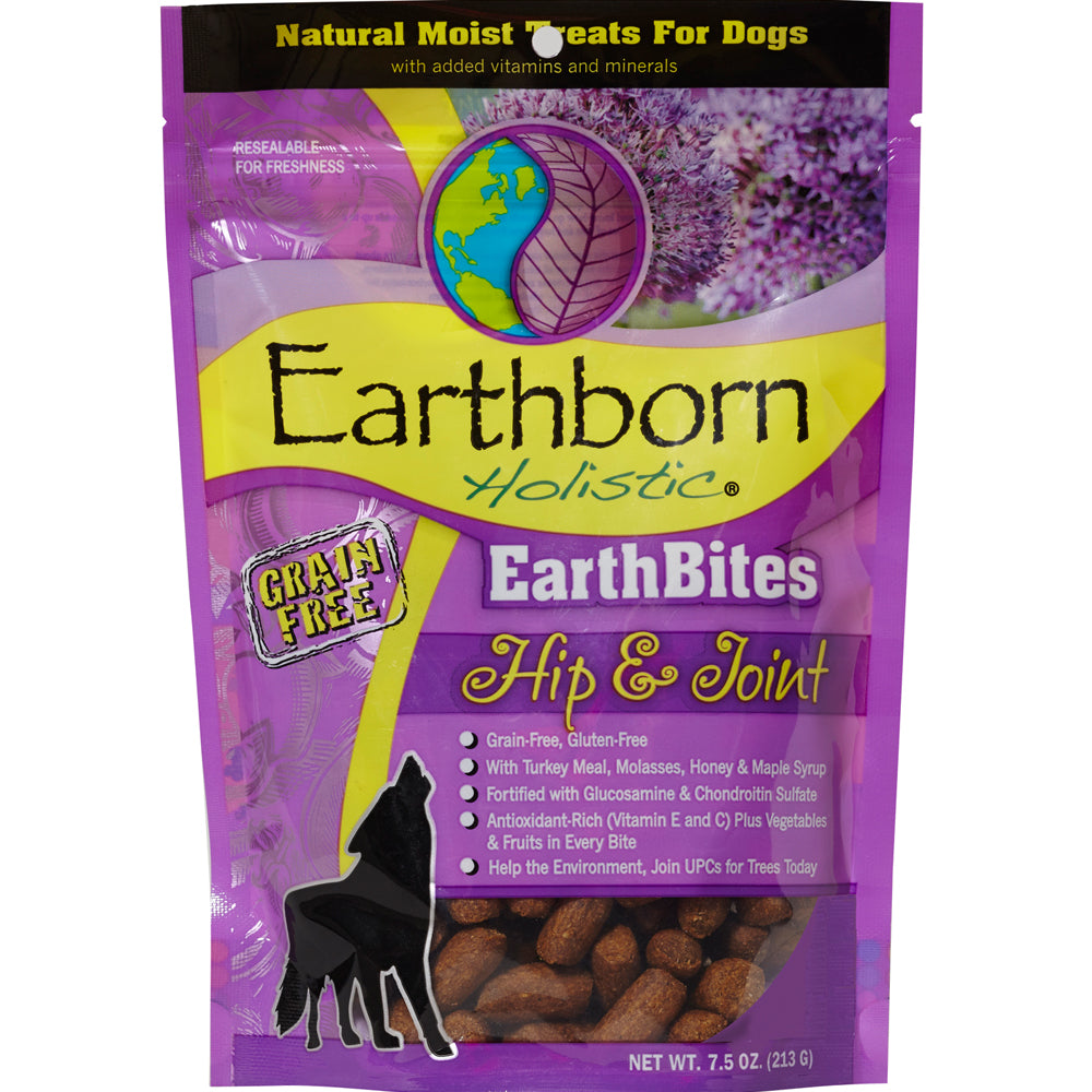 Earthborn Holistic EarthBites Grain-Free Hip & Joint Moist Treats For Dogs 7.5-oz
