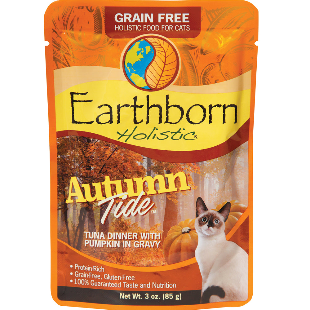 Earthborn Holistic Autumn Tide Tuna Grain-Free Cat Food Pouches 3-oz