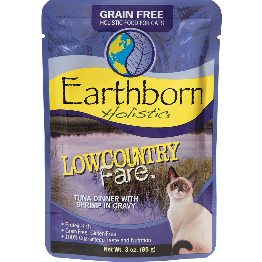 Earthborn Lowcountry Fare Tuna Grain-Free Cat Food Pouches 3-oz
