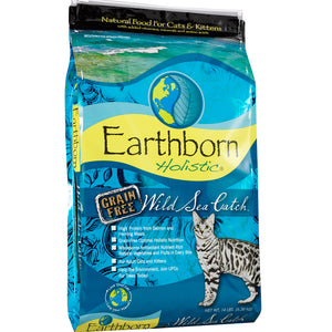Earthborn Holistic Wild Sea Catch Grain-Free Dry Kitten And Cat Food 14-lb