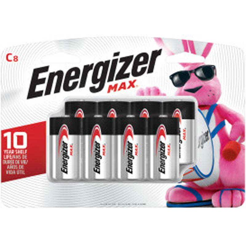 Energizer MAX C Battery 8-Pack