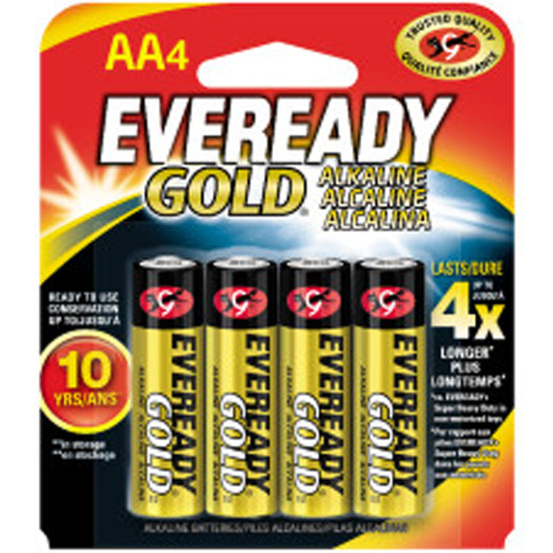 Eveready Gold 9V Alkaline Battery 4-Pack
