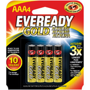 Eveready Gold AAA Battery 4-Pack