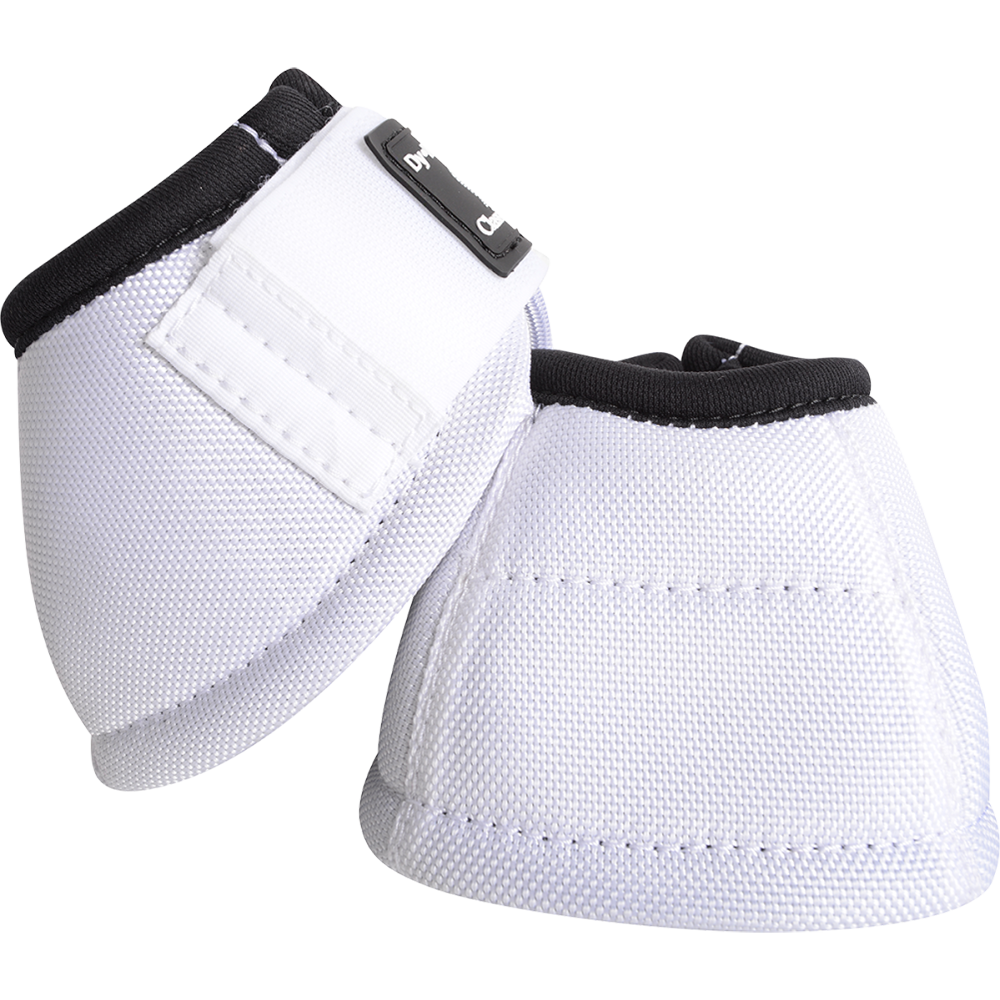 Classic Equine Medium Dyno Turn Bell Boots White
