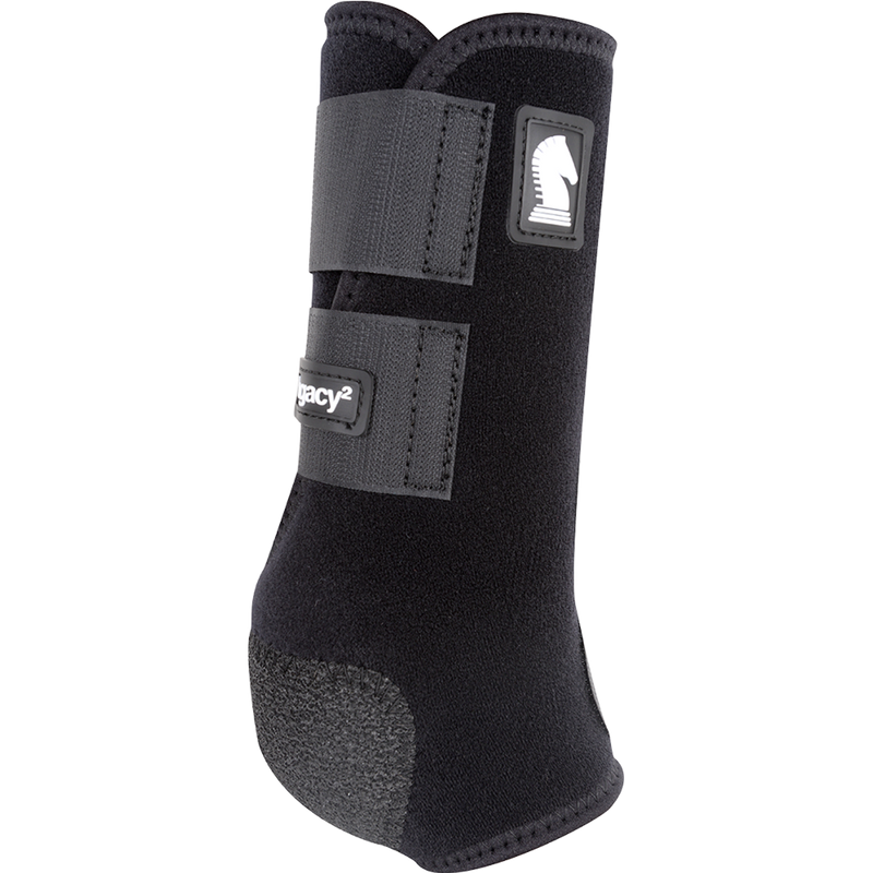 Classic Equine Medium Legacy2 Front Support Boot Black