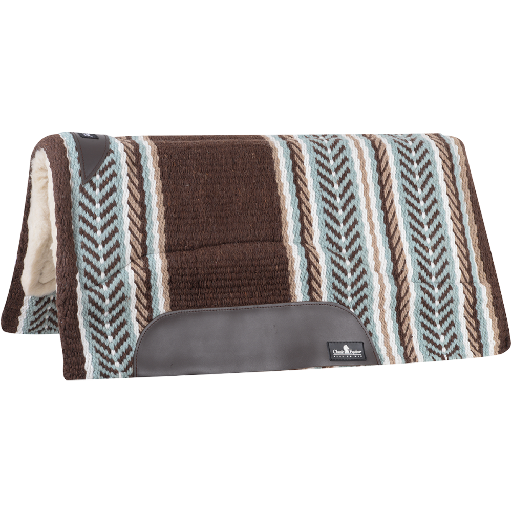Equibrand SensorFlex Wool Top Saddle Pad 32 in x 34 in Chocolate