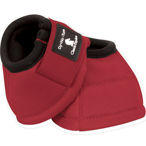 Classic Equine Medium Dyno Turn Bell Boots Red