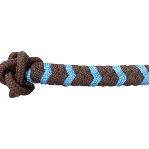Classic Equine Two-Tone Rope Halter Chocolate And Turquoise