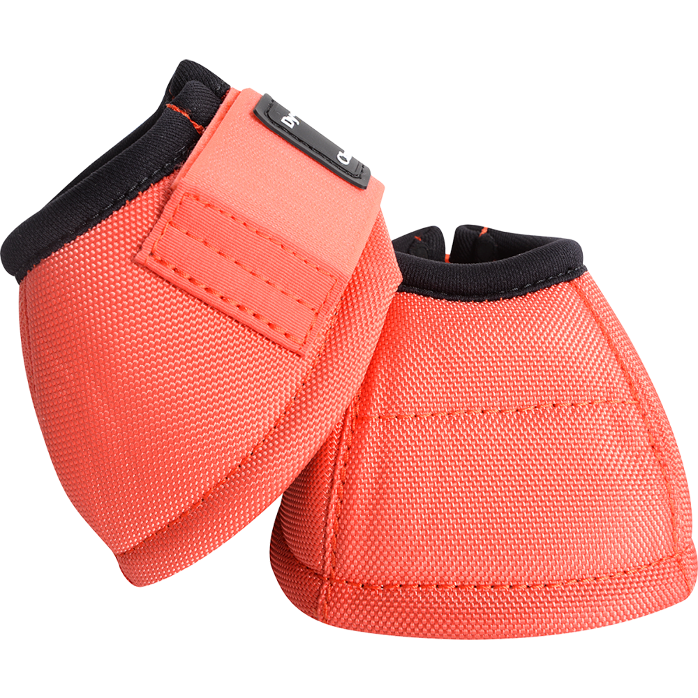 Classic Equine Large Dyno Turn Bell Boots Coral