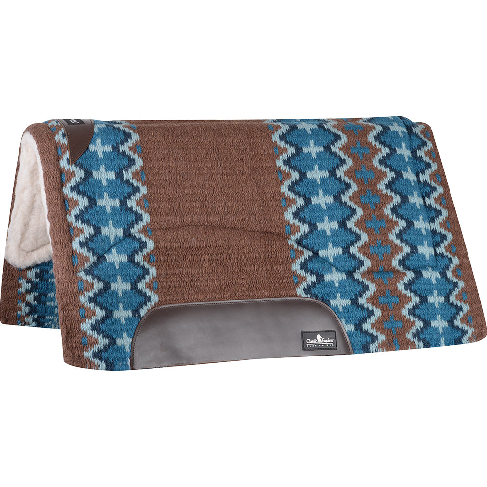 Classic Equine 32x34 Sensorflex Saddle Pad Brown And Navy