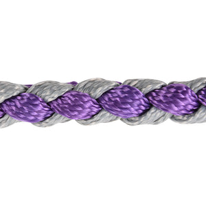 Classic Equine Braided Nylon Tape Halter Purple And Gray