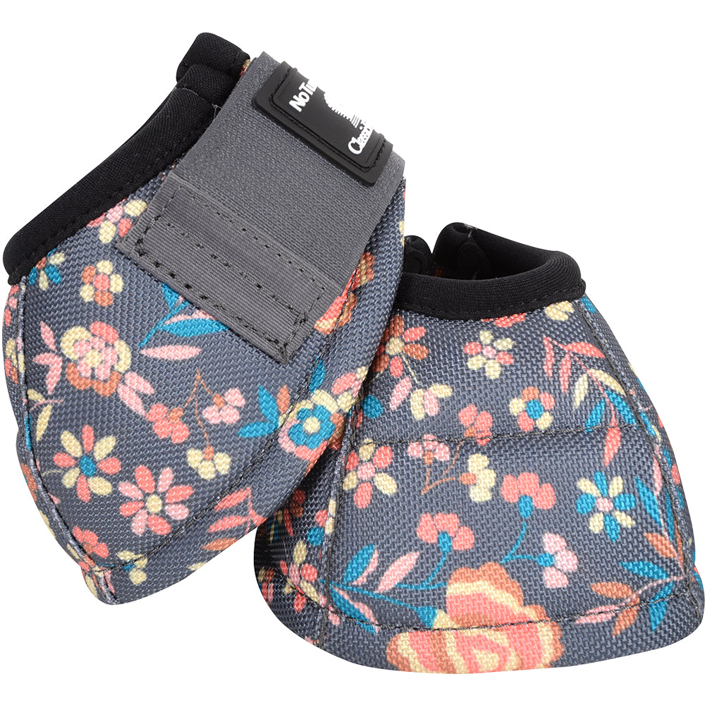 Classic Equine Large Dyno Turn Bell Boot Floral