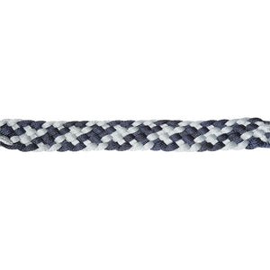 Classic Equine Braided Nylon Tape Halter Navy And Gray