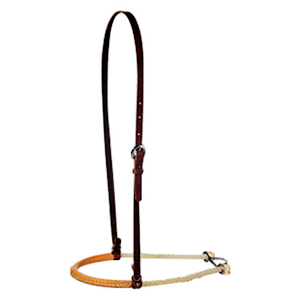 Martin Saddlery Leather Covered Rope Noseband