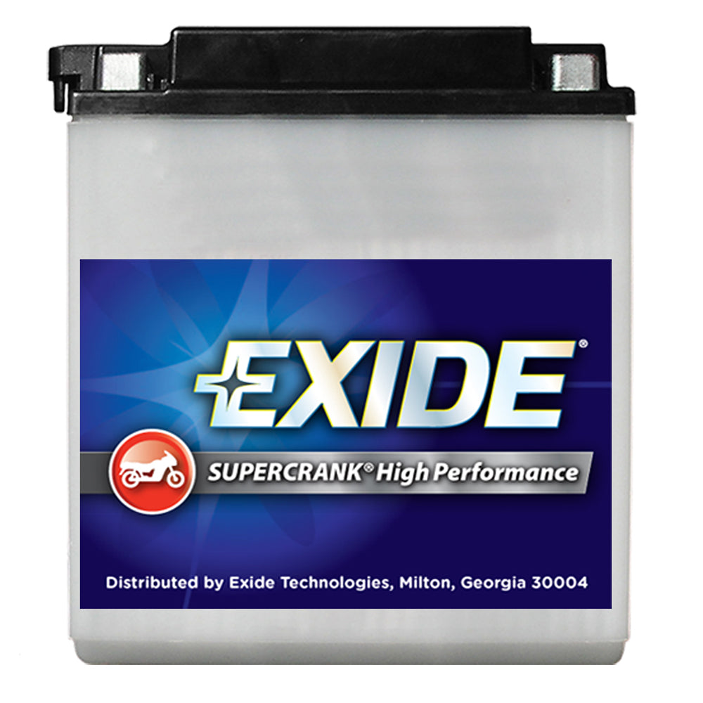 Exide SuperCrank High-Performance Motorcycle Battery 4L-B