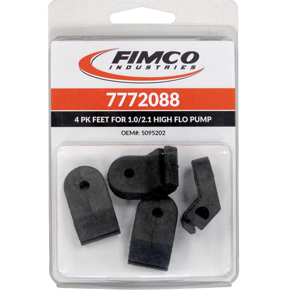 Fimco 4-Pack Rubber Feet- Fits High Flo 1.0 And 2.1 GPM Pumps 7772088