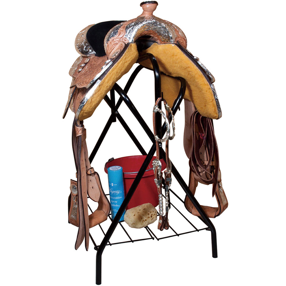 Red Mounting Valley Standing Saddle Rack