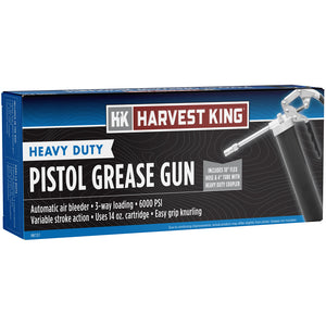 Harvest King Heavy-Duty Pistol Grease Gun