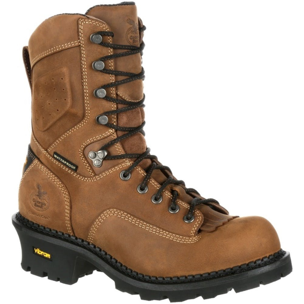 8M Comp Toe Waterproof Logger Brown
