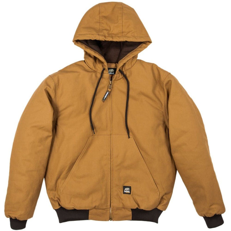 Small Regular Hooded Jacket Brown