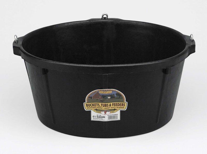 Rubber Feeder Tub with Hooks 6.5 Gallon