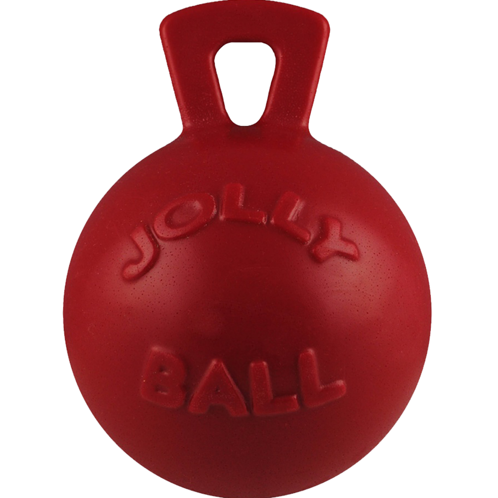 Jolly Pets Tug n Toss Ball Dog Toy Red 8 Inch