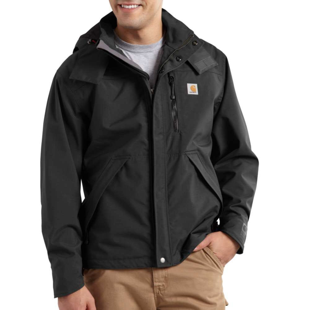 Medium Regular Carhartt Shoreline Rain Jacket Black