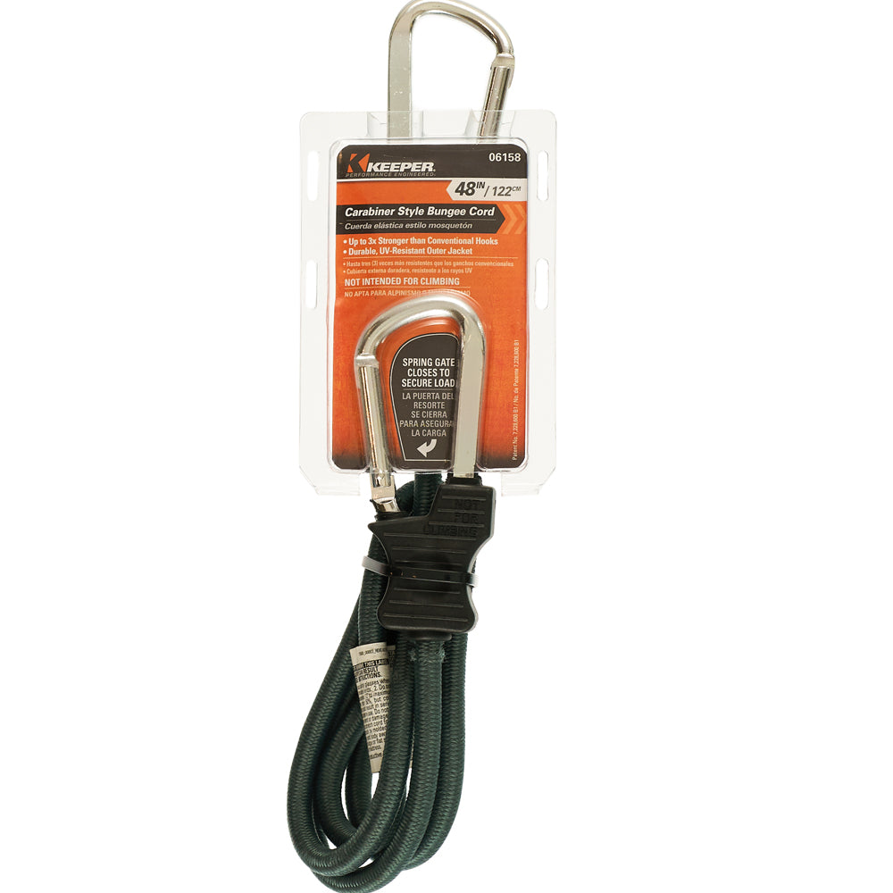Keeper Corporation 48-Inch Carabiner Bungee Cord