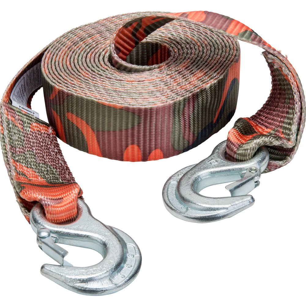 Keeper Corporation 2-Inch x 20-Foot Tow Strap Blaze Camo