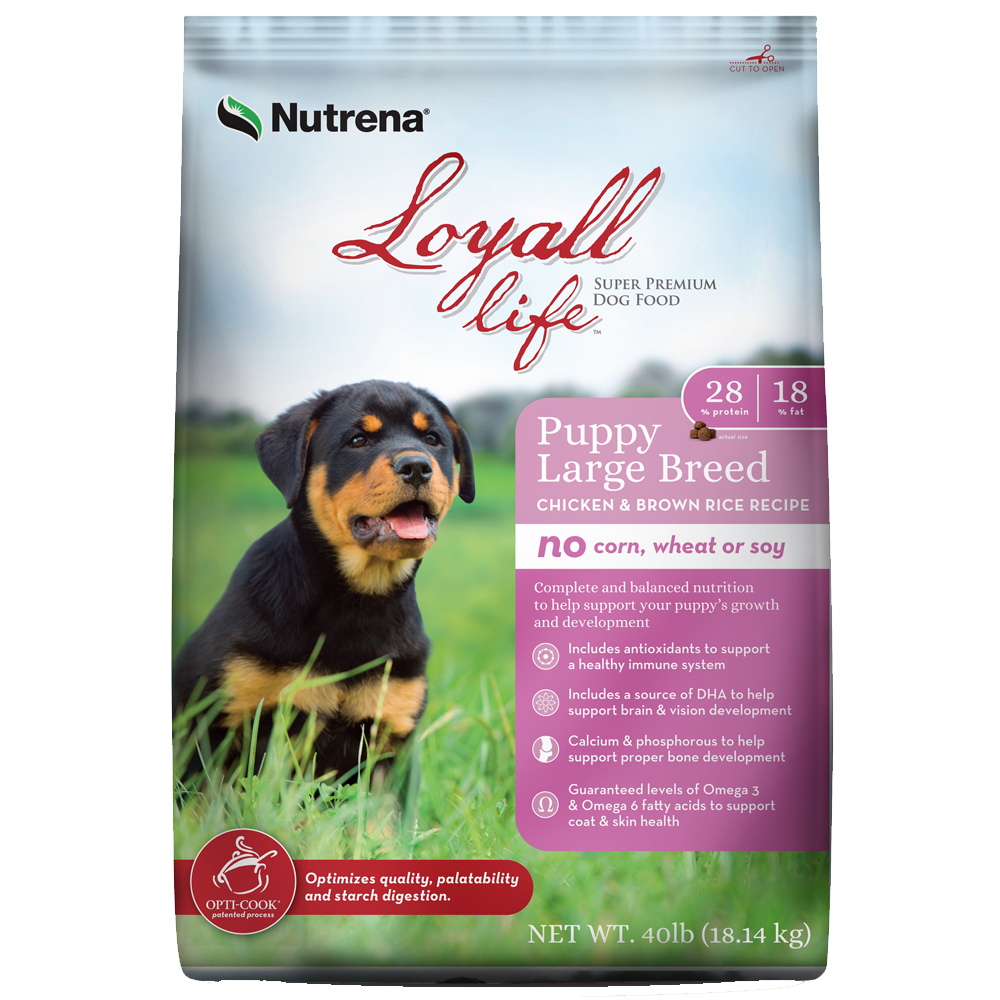 Nutrena Loyall Life Chicken And Rice Large Breed Puppy Dog Food 40 lb