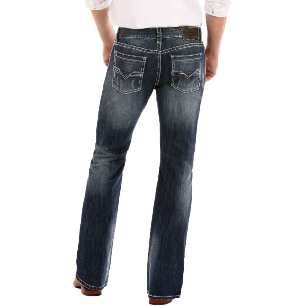28x32 Mens Rock & Roll ReFlex Pistol Jean Medium-Wash