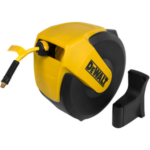 DeWalt 3/8-Inch x 50-Foot Enclosed Air Hose Reel With A Hybrid Hose