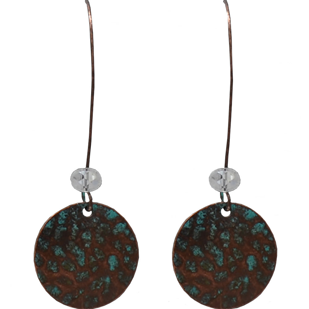 M And F Western Products Patina Loop With Bead Earrings