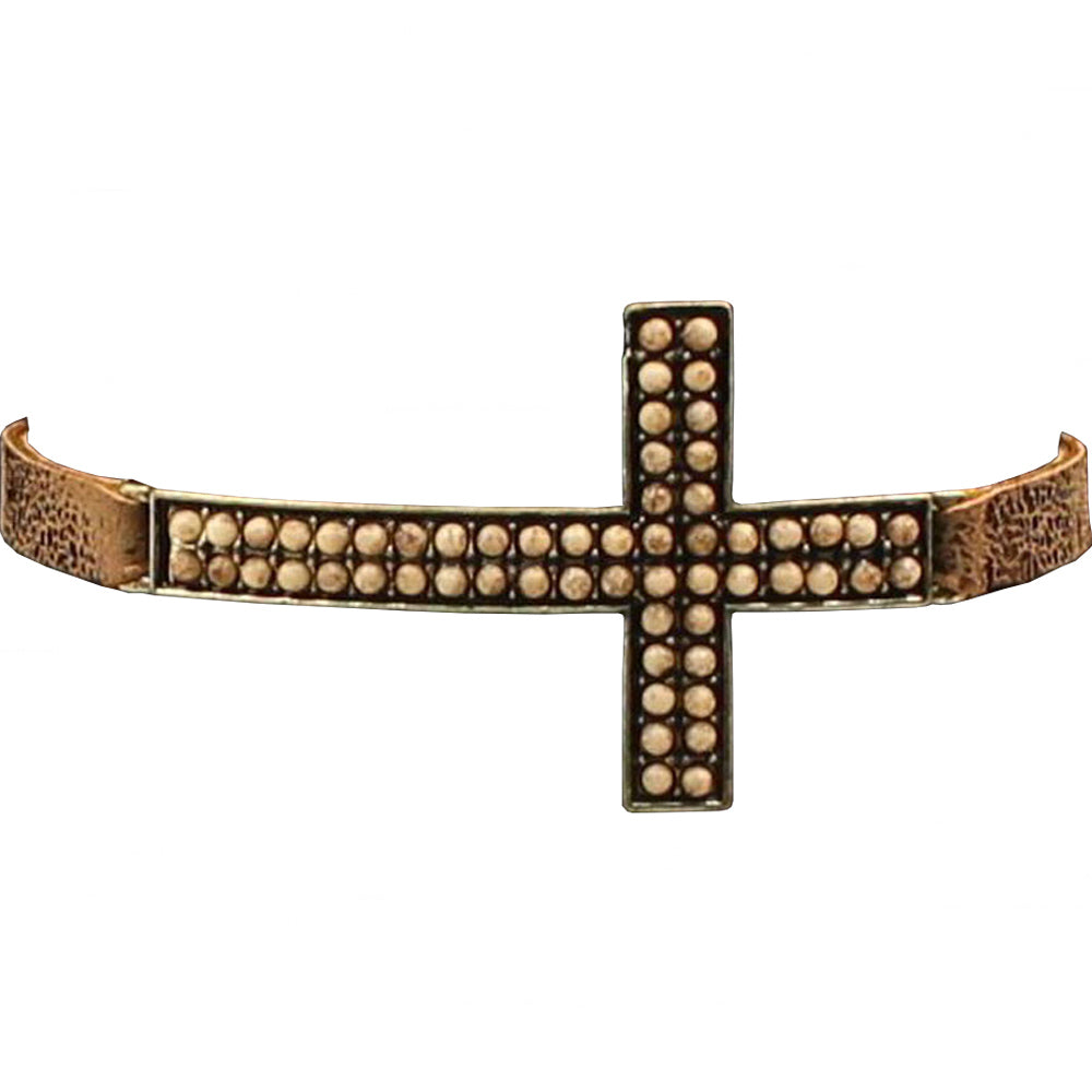 M And F Western Products Gold Cross Bracelet