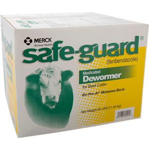 Safeguard Medicated Dewormer Block 25 lb