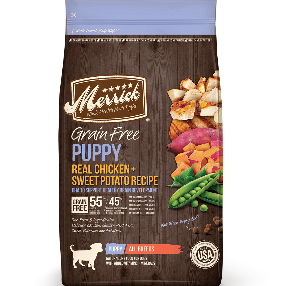 Merrick Grain-Free Real Chicken And Sweet Potato Recipe Dry Puppy Food 22-Lbs