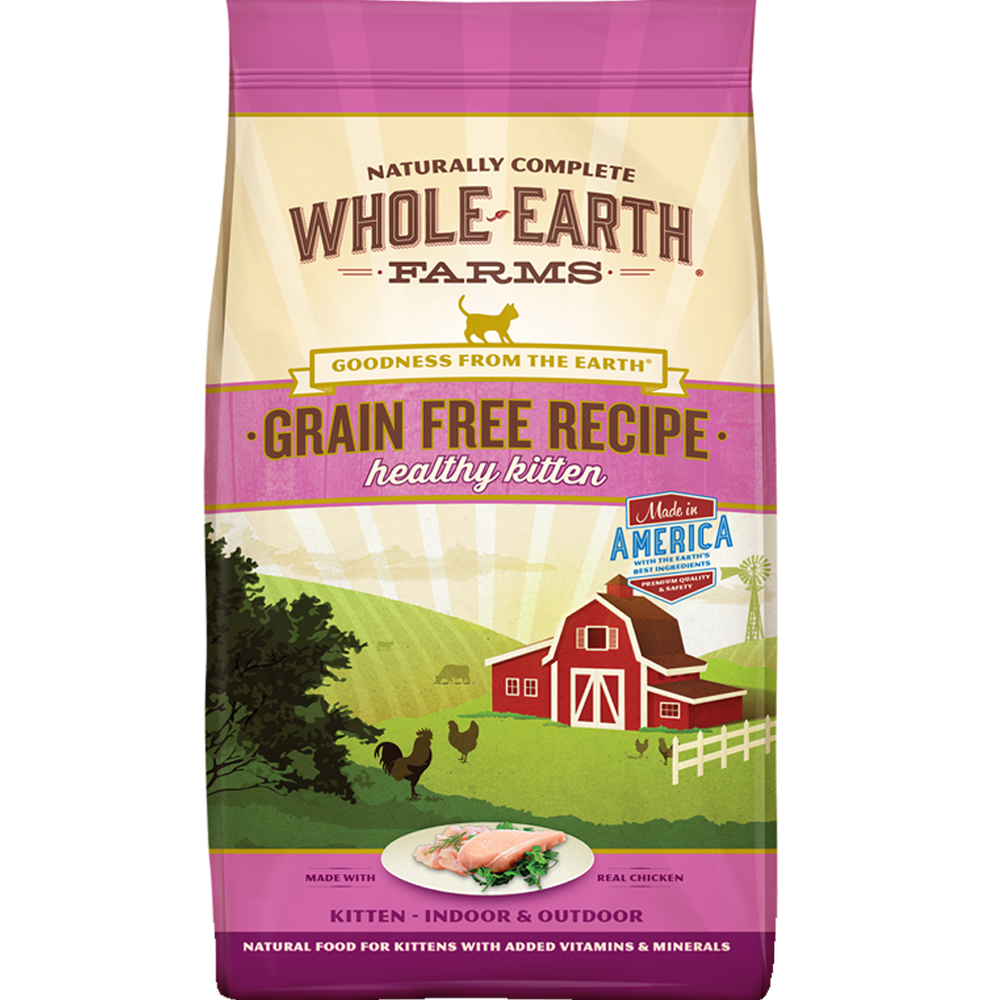 Whole Earth Farms Grain-Free Recipe Healthy Kitten 5 lb