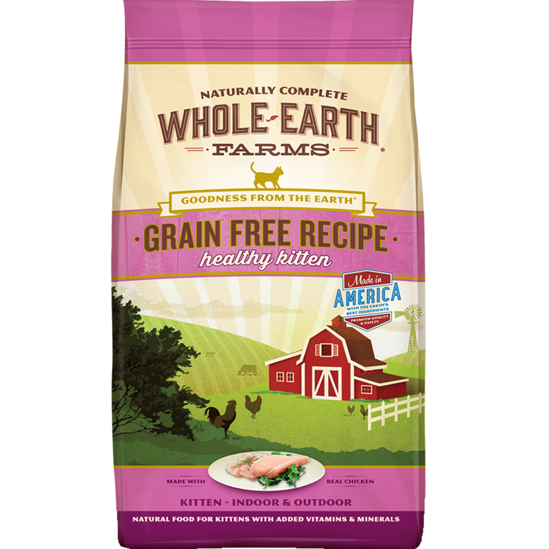 Whole Earth Farms Grain-Free Recipe Healthy Kitten 10 lb