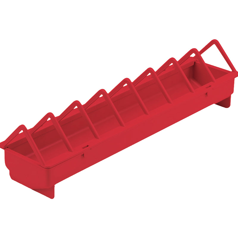 Miller 20-Inch Plastic Poultry Trough Feeder Wide Spacing