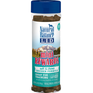 Natural Balance L.I.D Mini Rewards Soft And Chewy Chicken Recipe Dog Treats 5.3 oz